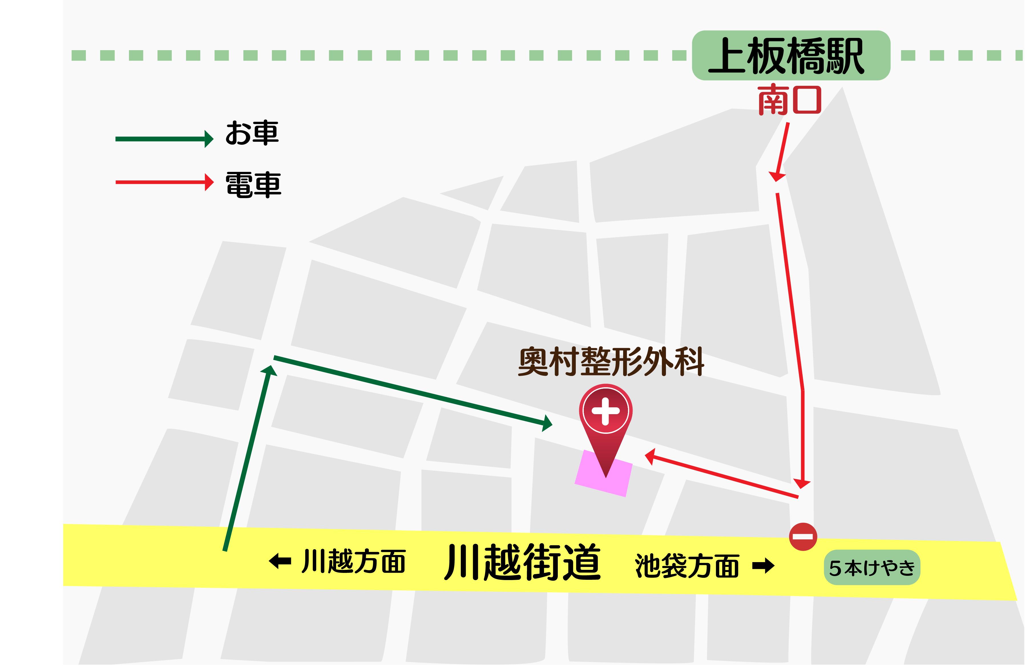 奧村整形外科の地図